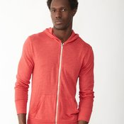 Unisex Eco-Jersey Hooded Full-Zip T-Shirt