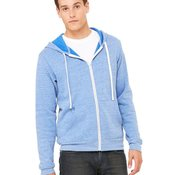 Unisex Triblend Sponge Fleece Full-Zip Sweatshirt