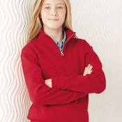 Nublend Youth Quarter-Zip Cadet Collar Sweatshirt