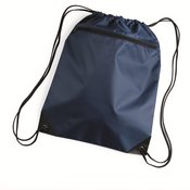 Denier Nylon Zippered Drawstring Backpack