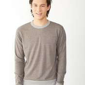 Eco Mock Twist French Terry Contrast Crew