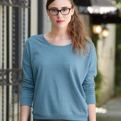 Women's Eco Mock Twist French Terry Sunset Crewneck Pullover