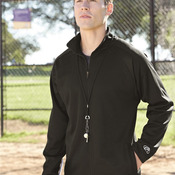 Full-Zip Flatback Mesh Fleece Jacket