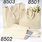 12 Ounce Gusseted Canvas Tote